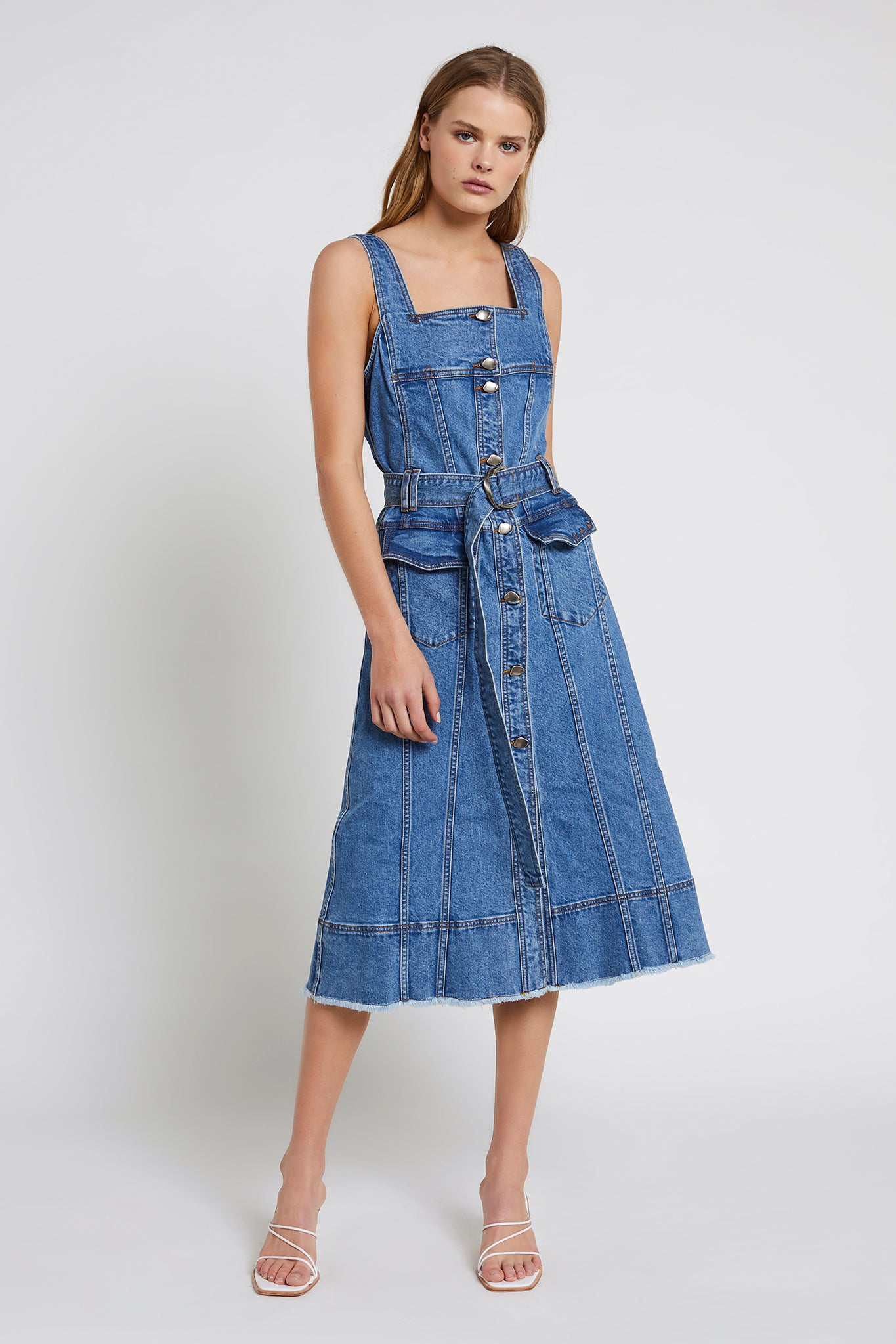Shore Denim Dress Outfit View