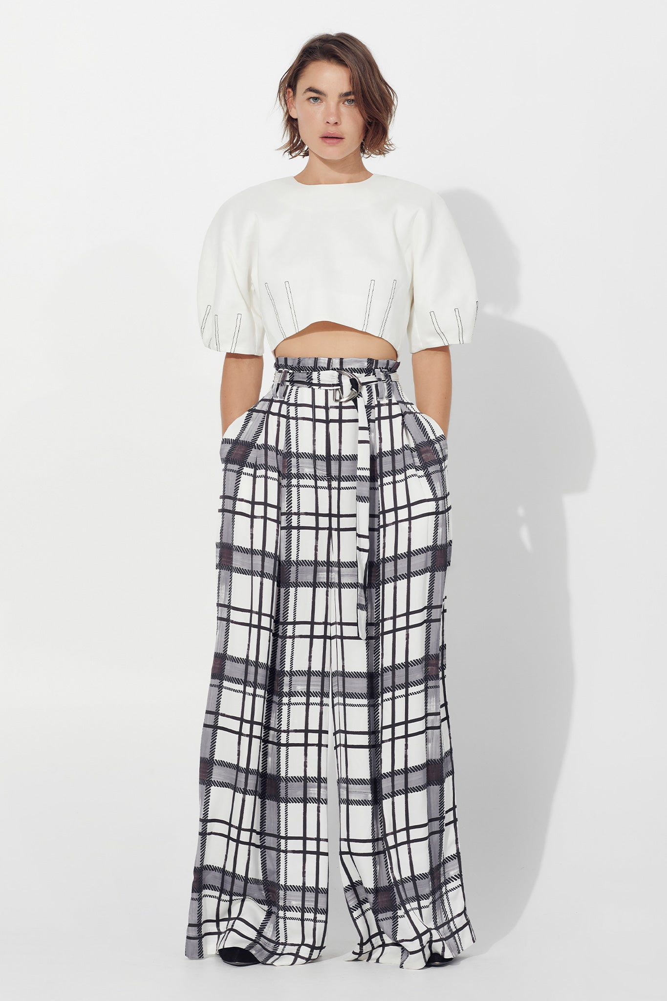 Thea Belted Wide Leg Trouser Outfit View