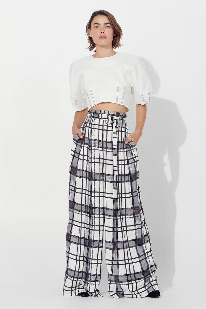 Thea Belted Wide Leg Trouser
