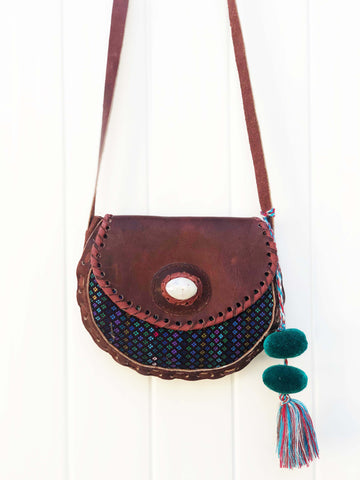 Aki Woven Leather Bag