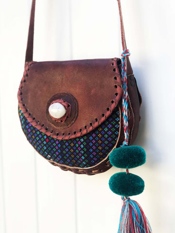 Huipil Leather Bag