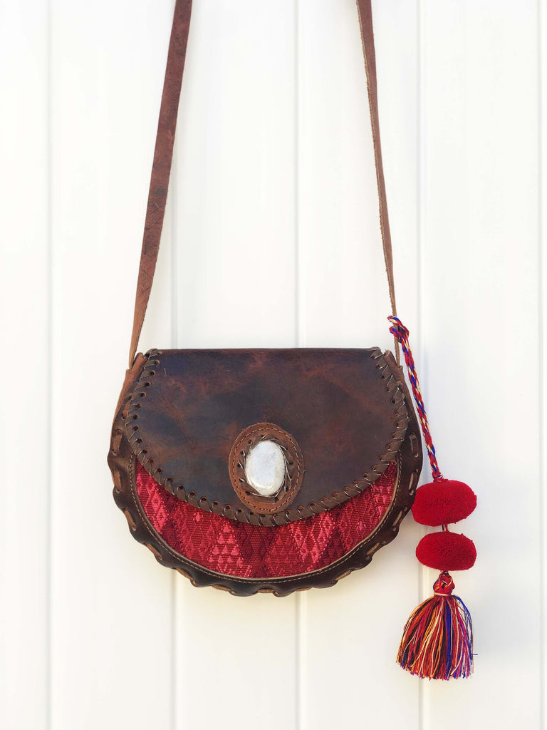 Nahuala Woven Leather Bag