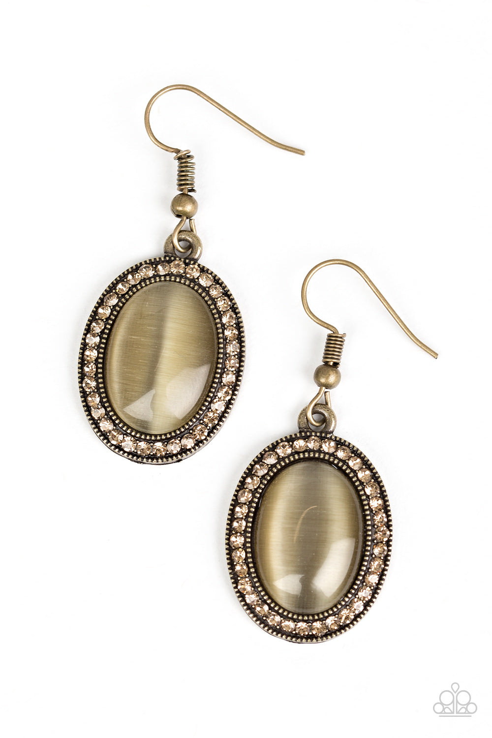 Just GLOWS To Show - Brass & Brown Earrings