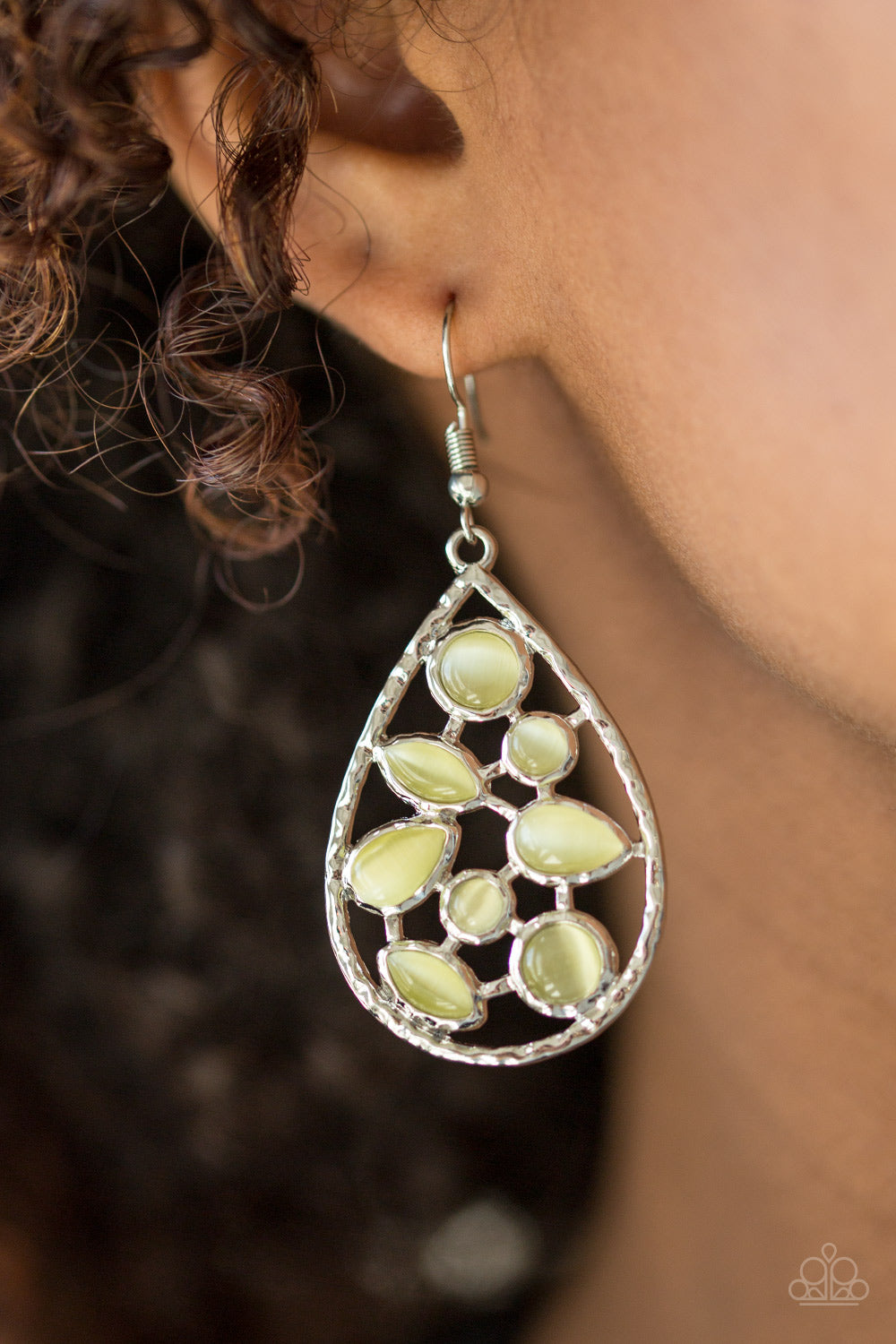 That Thing You DEW - Silver Earrings with Yellow Moonstones