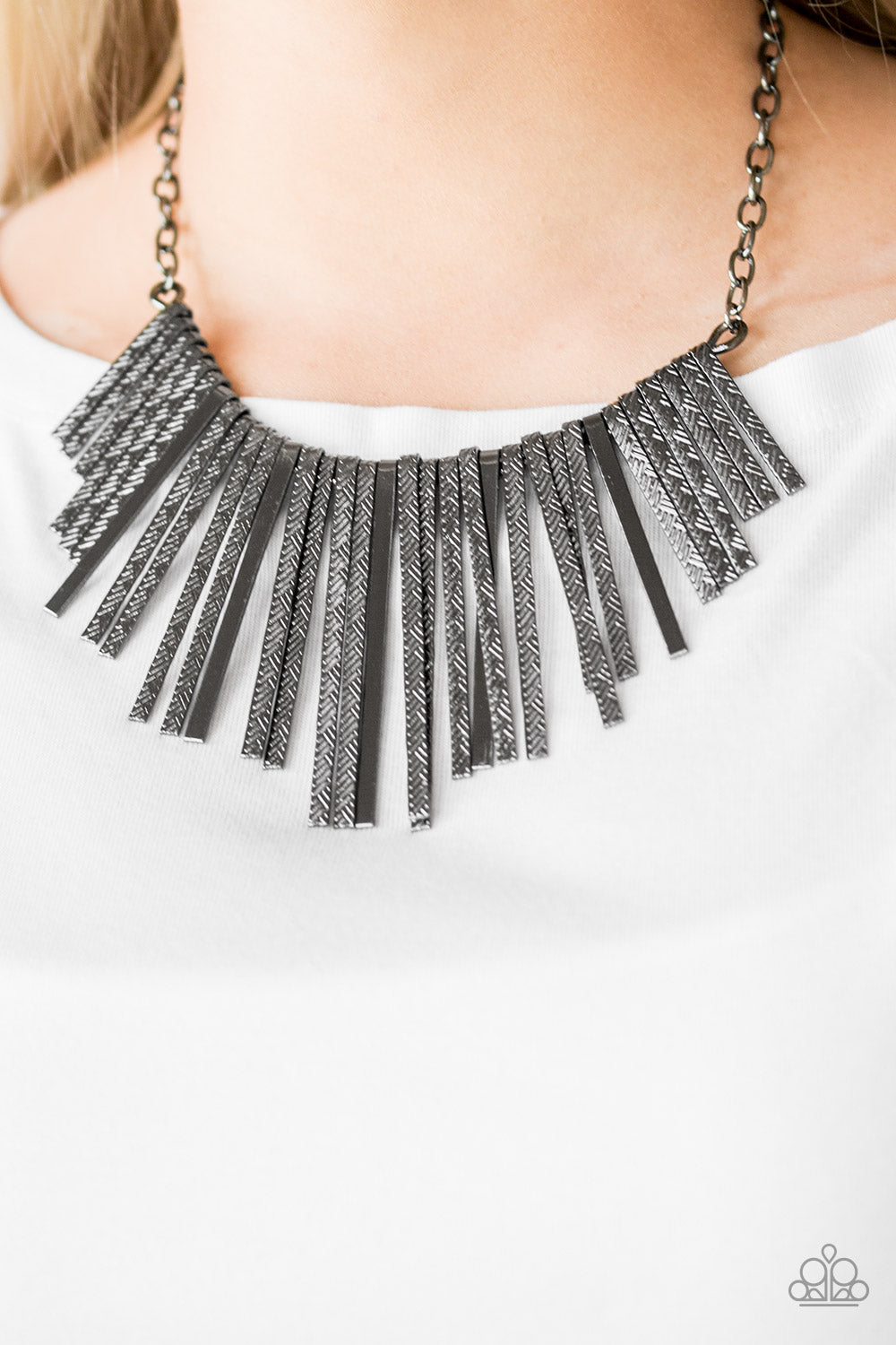Welcome To The Pack - Black & Silver Necklace