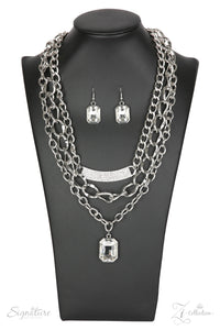 The Stacy - The Zi Collection Silver Necklace