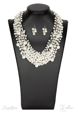 The Tracey - Zi Collection White Pearl Necklace