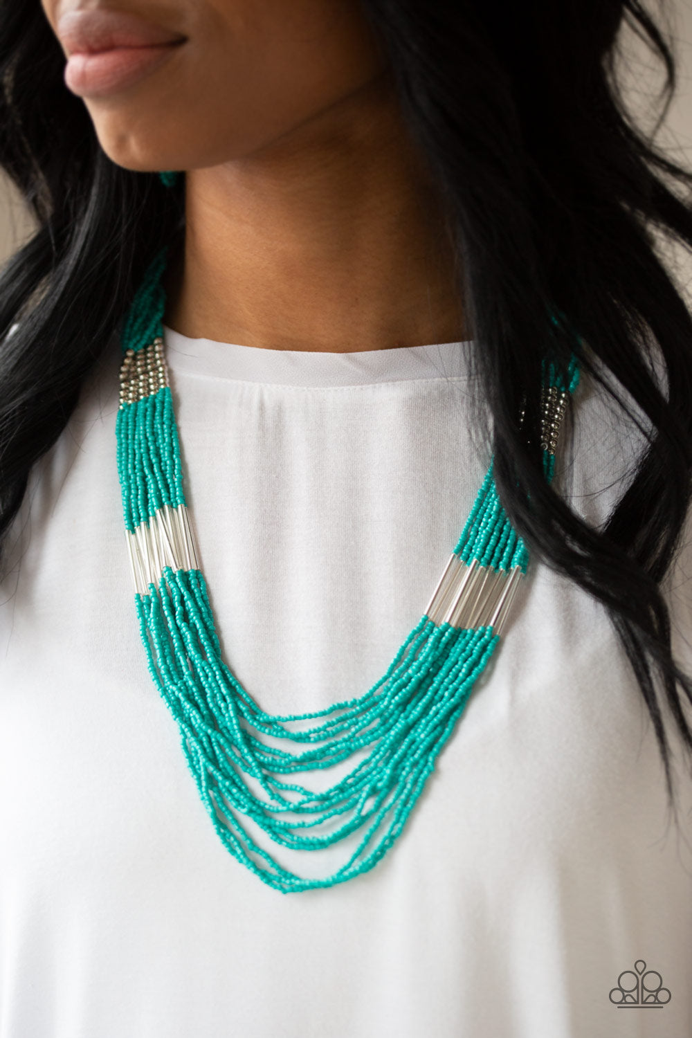 Let It BEAD - Turquoise Seed Bead Necklace