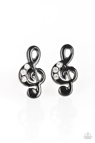 Starlet Shimmer Musical Note Earrings - Social Bling Queen