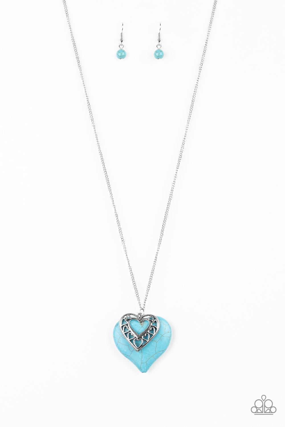 Southern Heart - Blue & Silver Necklace