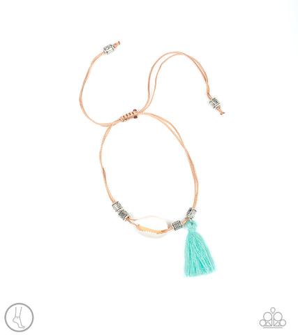 SEA If I Care - Green Tassel Anklet