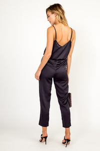 Satin Cinched Jumpsuit