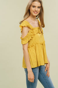 Luna Cold Shoulder Top