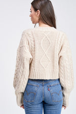 Load image into Gallery viewer, Cable Knit Cardigan