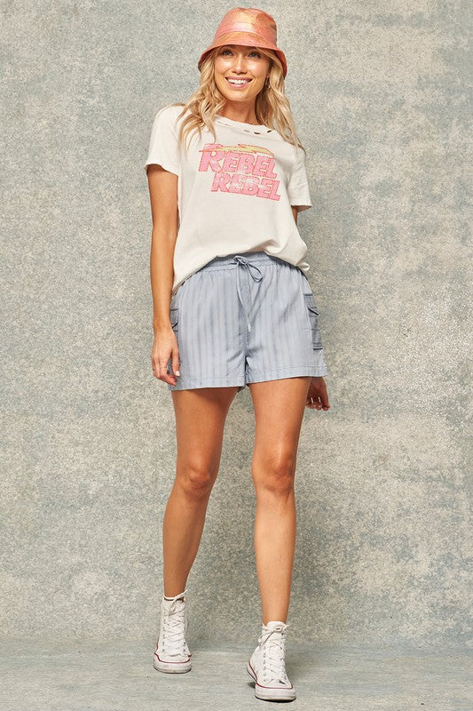 Rebel Rebel Distressed Tee