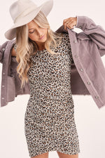 Load image into Gallery viewer, Leopard T-shirt Dress