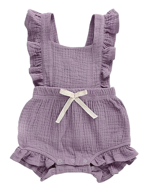 Summer Ruffle Romper- Purple