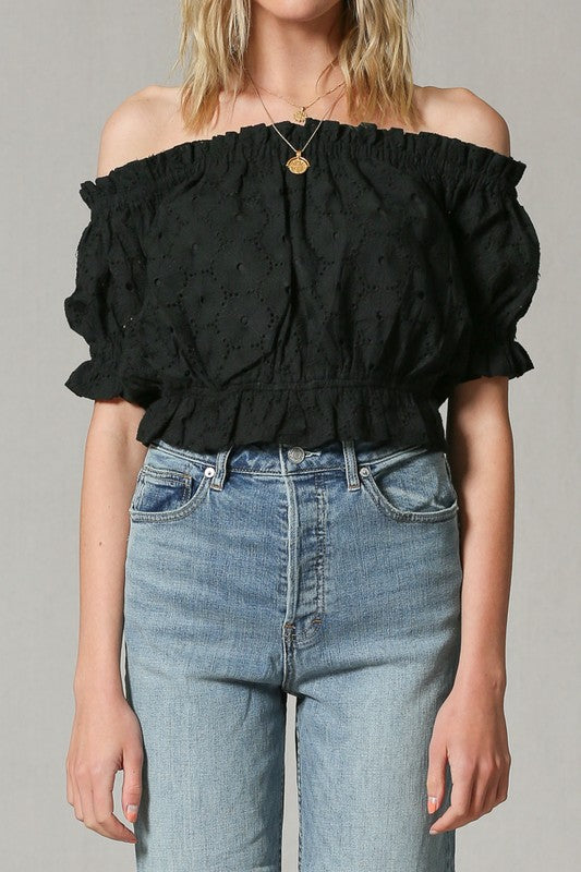 Stephanie Eyelet Top