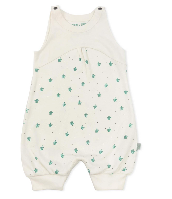Dotted Leaves Romper