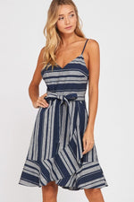 Load image into Gallery viewer, Lillian Stripe Dress