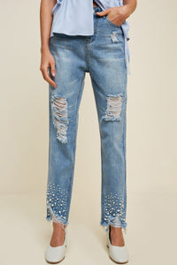 Distressed Pearl Jeans