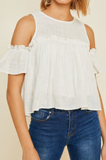 Load image into Gallery viewer, Michelle Cold Shoulder Top