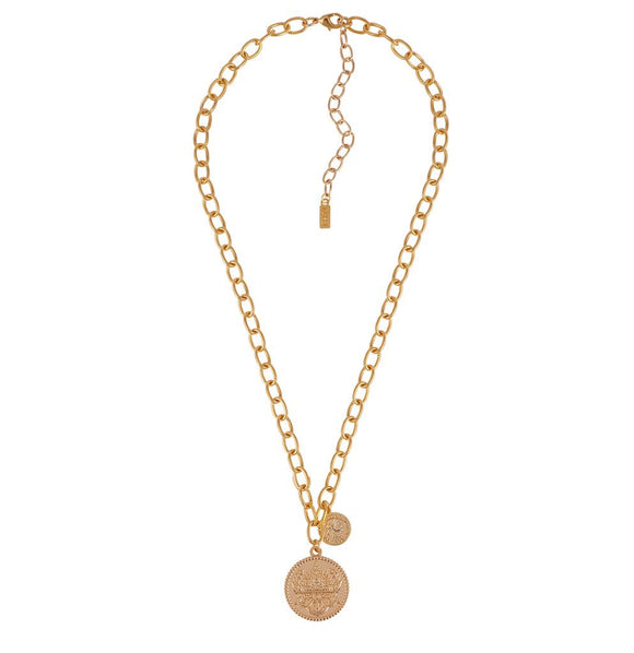 Seine Double Coin Necklace