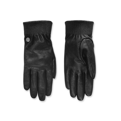 Women's Leather Rib Glove Black