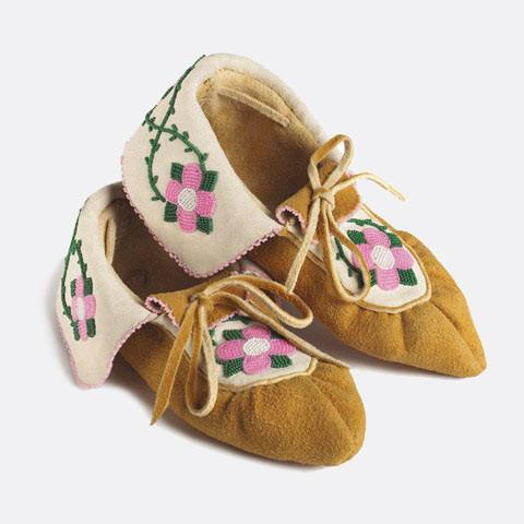 Manitobah Mukluks Limited Edition Edna Nabess Moccasin as-pictured