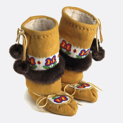 Manitobah Mukluks Limited Edition Edna Nabess Mukluks as-pictured
