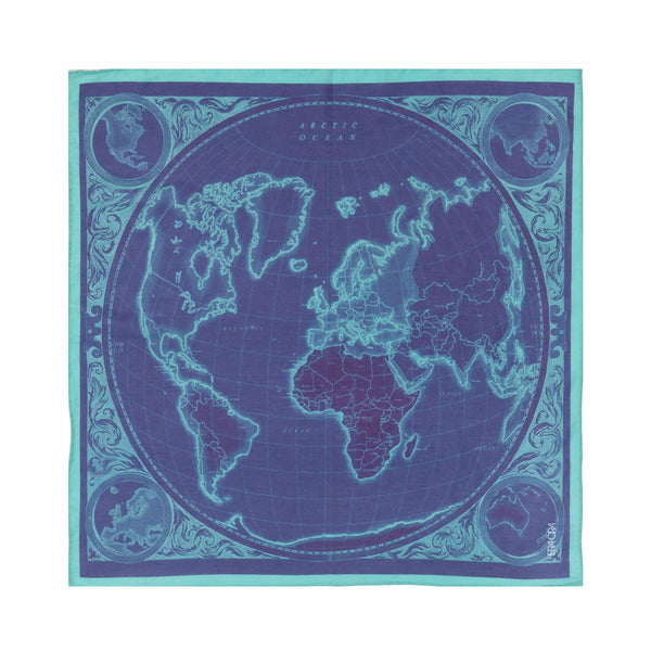 Diary of the World pocket square