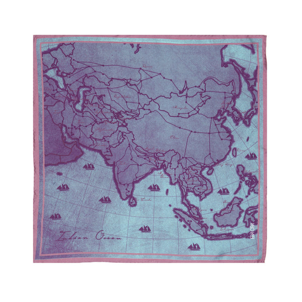 Dreaming of Asia pocket square