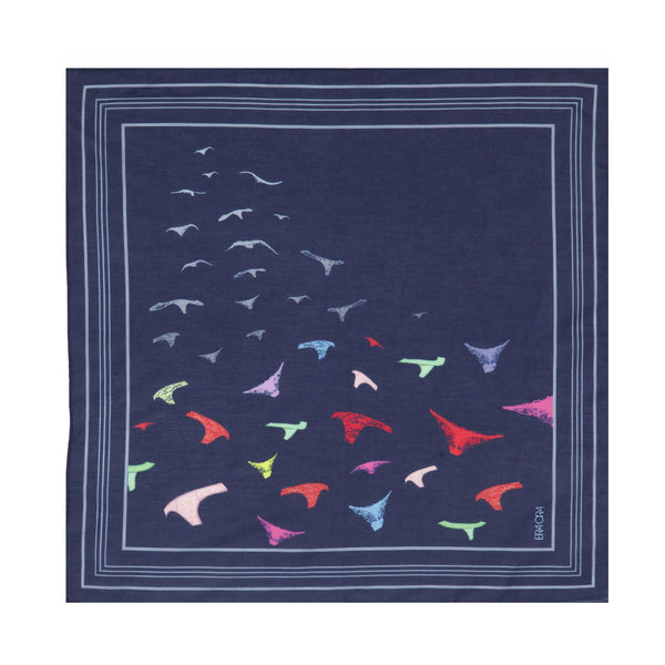 Knickers in Flight pocket square