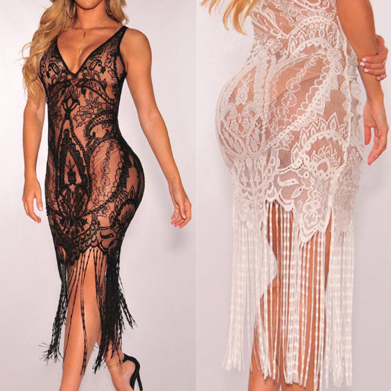 Hot Brand Women Bandage Bodycon carved lace