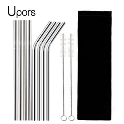 4/8Pcs Reusable Drinking Straw (Stainless Steel)