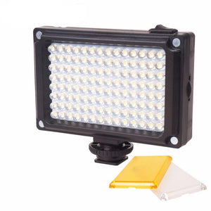 112 LED Dimmable Video Light Rechargable Panal Light