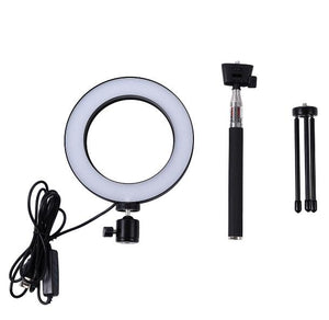 Dimmable LED Studio Camera Ring Light Photo Phone Video Light  Lamp