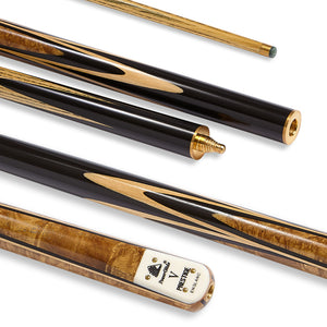 "PowerGlide Prestige ""V"" 3-Piece Snooker Cue with 9.5mm Tip - Triple DDD Sports Ltd"