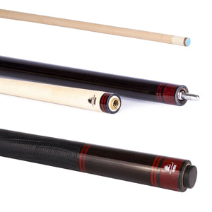 PowerGlide President 2-Piece Pool Cue with 13mm Tip - Triple DDD Sports Ltd