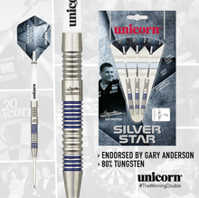 Load image into Gallery viewer, Unicorn - Silver Star 80% Tungsten - Gary Anderson - Triple DDD Sports Ltd