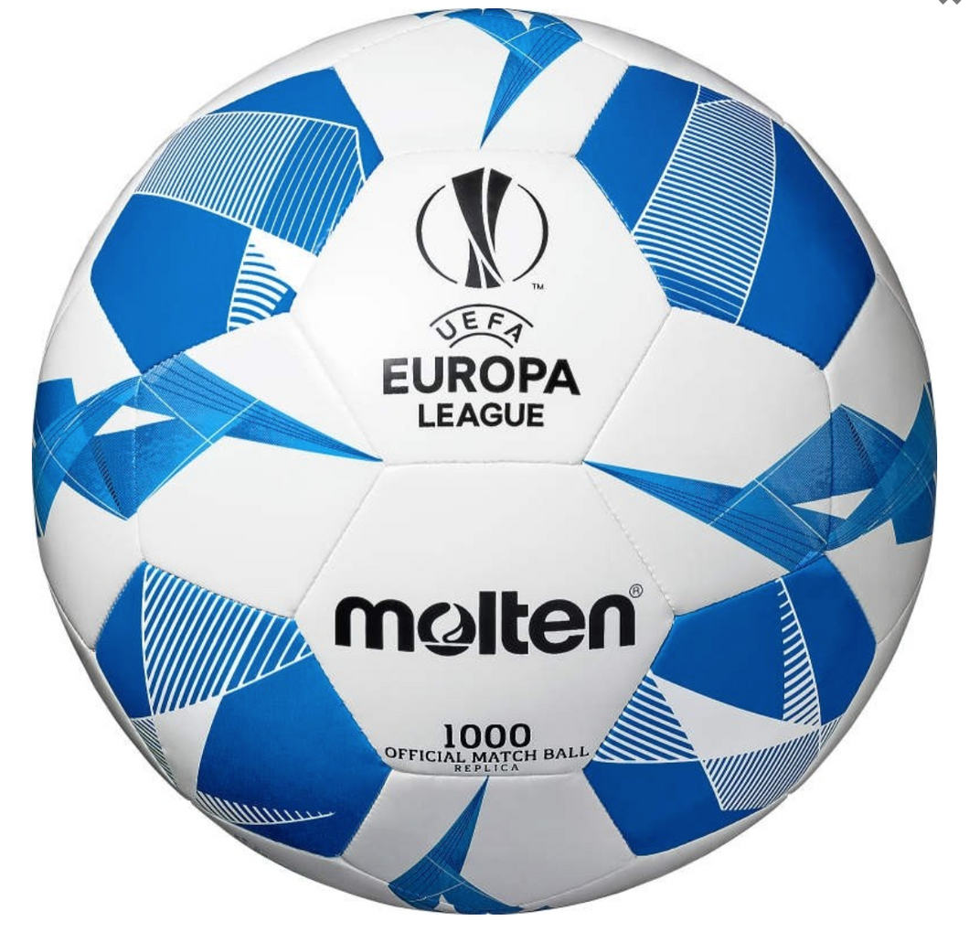 Molten - UEFA Europa League Official Replica Football 1000 (Blue) - Triple DDD Sports Ltd