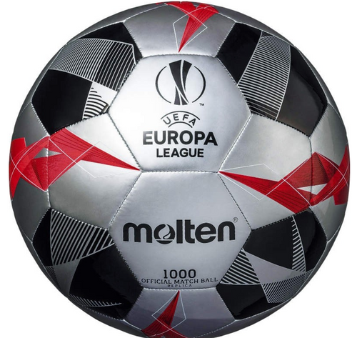 Molten - UEFA Europa League Official Replica Football 1000 (Silver) - Triple DDD Sports Ltd