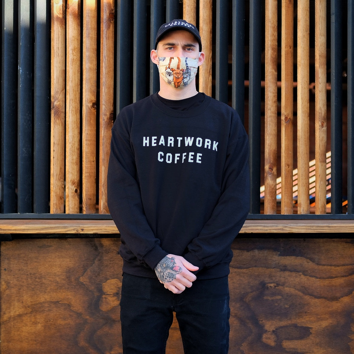 "Heartwork ""College"" Crew Neck Sweatshirt"