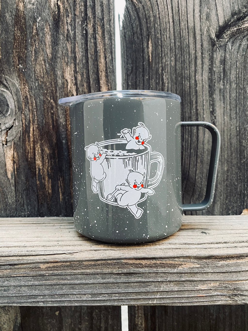 "12oz ""Kewpie"" Speckled MiiR Camp Cup"