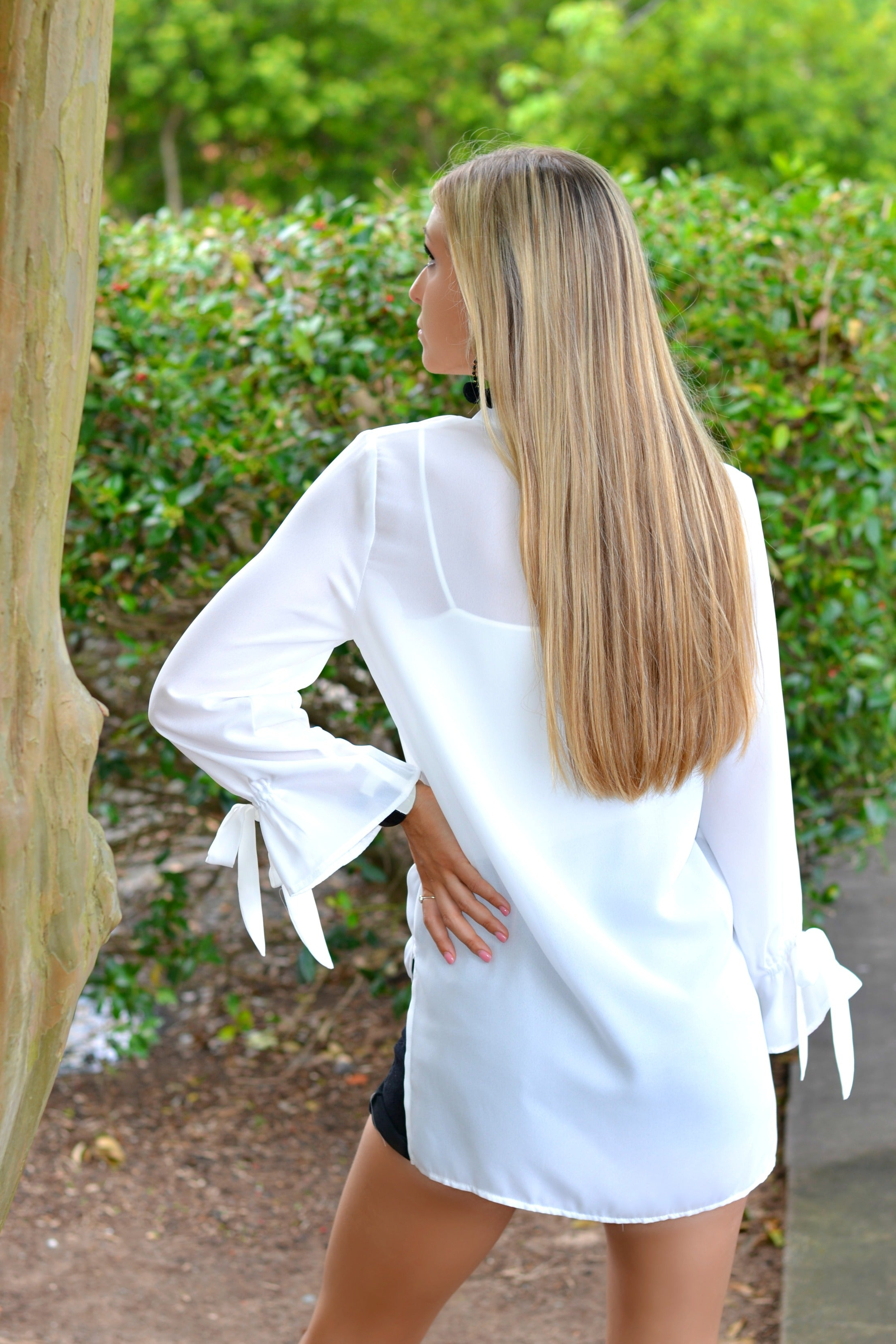 Contemporary Ivory Blouse