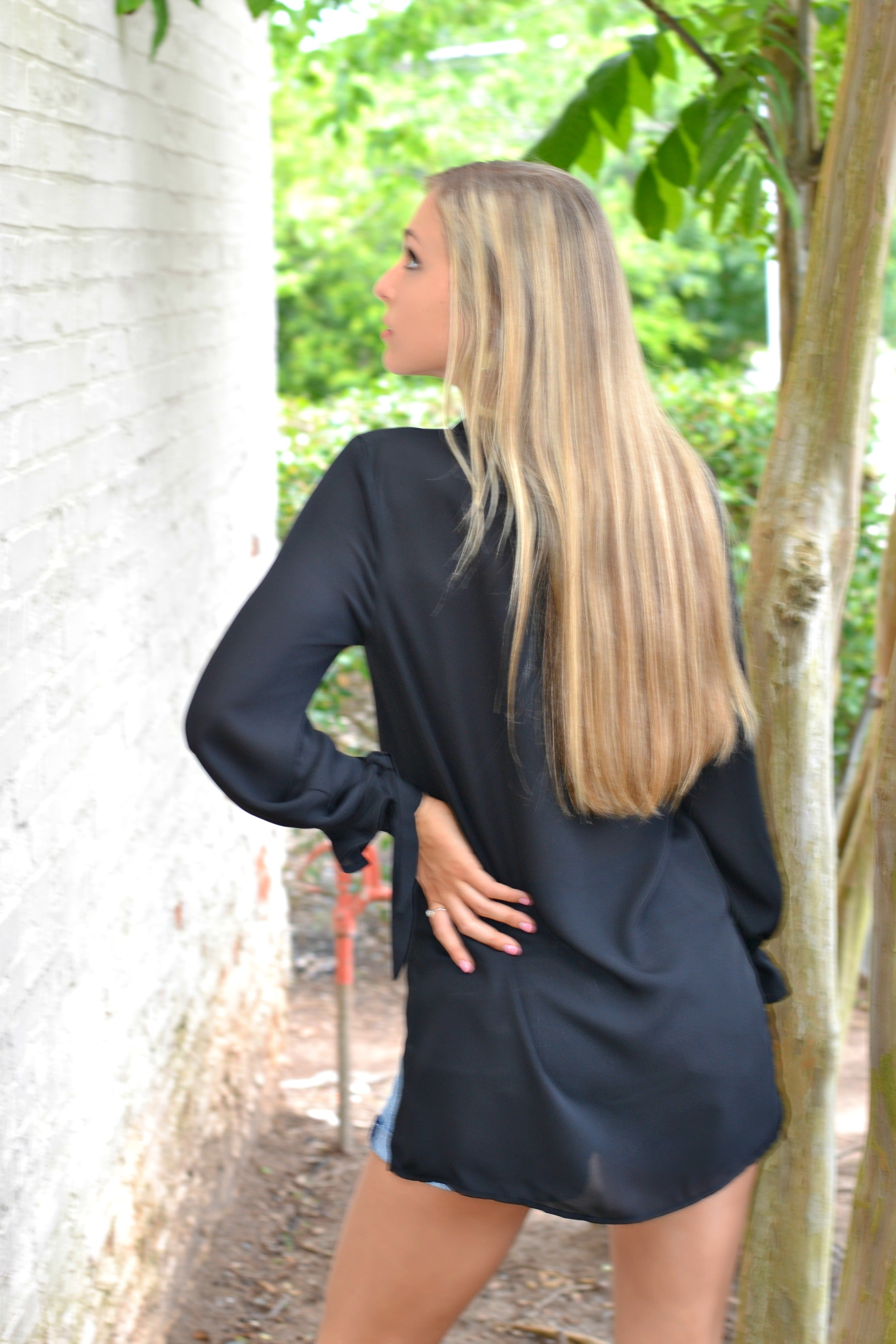 Contemporary Black Blouse