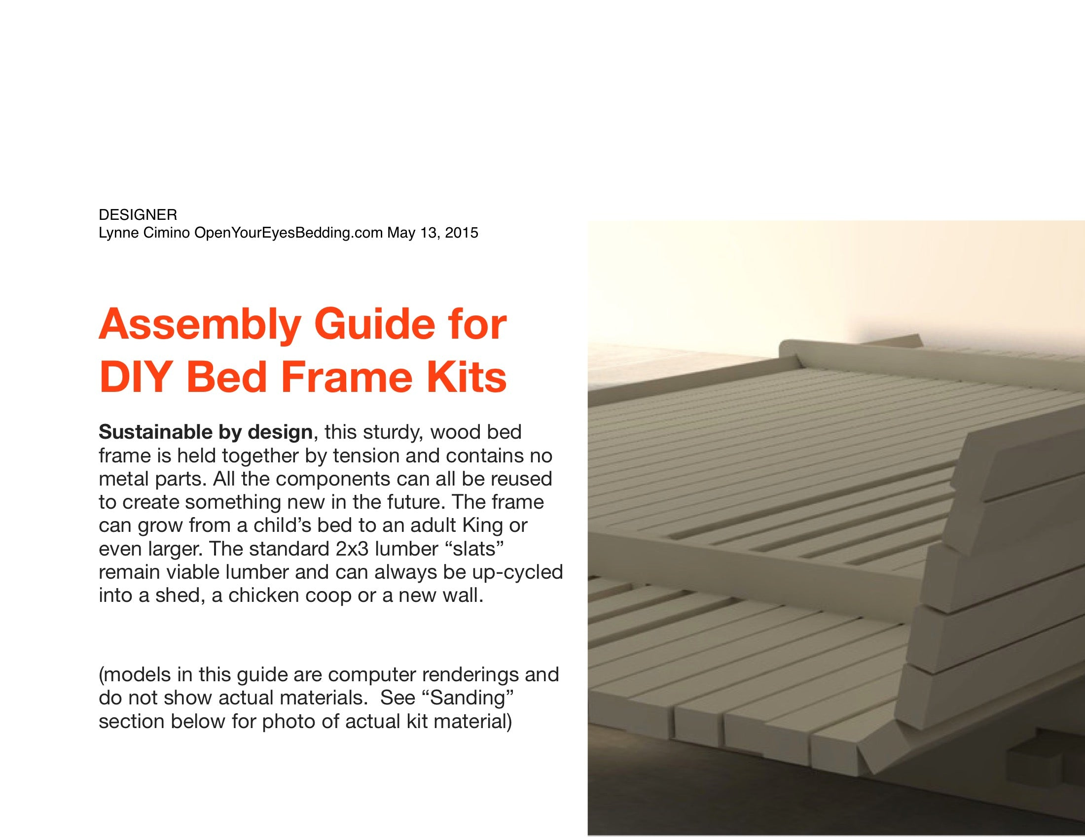DIY Bed Frame Kit / Back Rest Model – Open Your Eyes Bedding