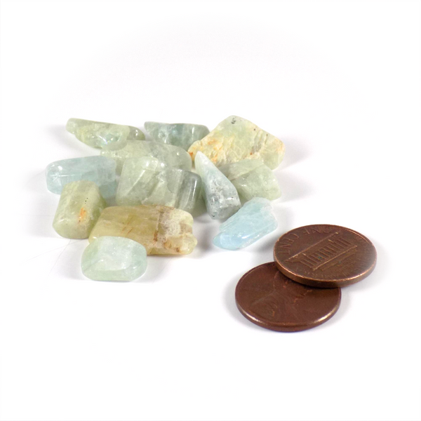 Tumbled Aquamarine crystals size Amanda McElhaney
