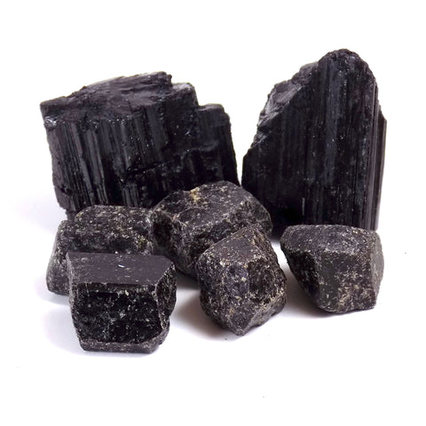 Black Tourmaline Rough Crystal Amanda McElhaney