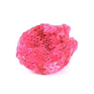 Pink Knit Charm Bag Crystal Herb